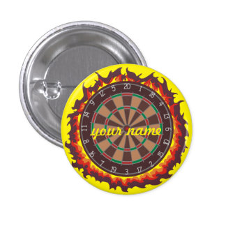 Darts Game Personalized 3 Cm Round Badge