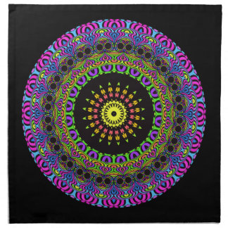 Darts Mandala - neon 2 Napkin