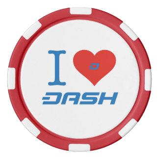 Dash Poker Chips Red