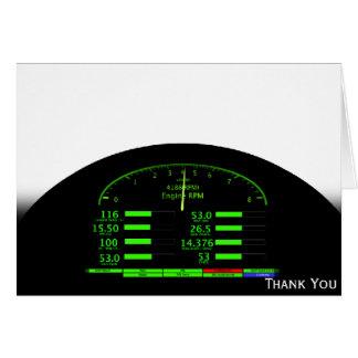 Dashboard Glow with Black Frame Card