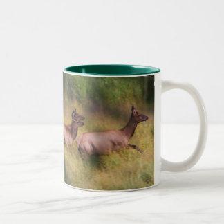 Dashing for cover Two-Tone coffee mug