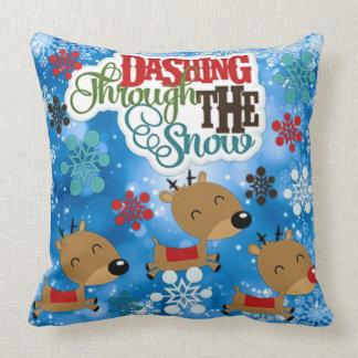 Dashing Throw The Snow Cushion