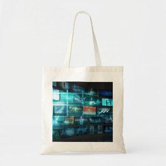 Data Stream of Internet Digital Information Moving Tote Bag