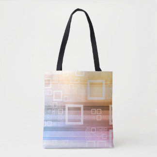 Data Stream Traffic Concept on the Internet Tote Bag