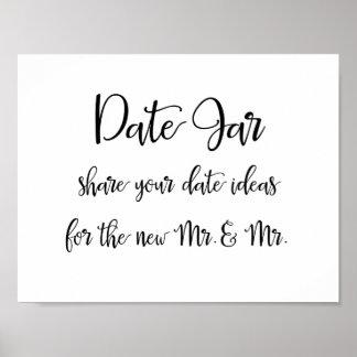 Date jar ideas gay wedding sign | Calligraphy