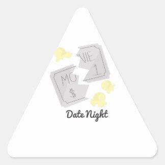 Date Night Triangle Sticker