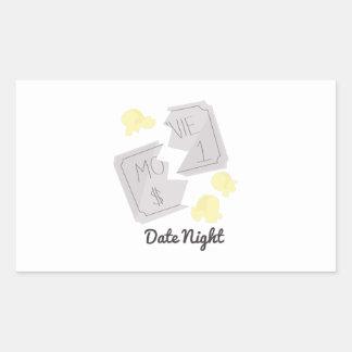 Date Night Rectangular Sticker