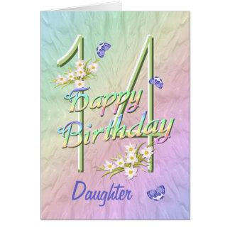 Daughter 14th Birthday Butterfly Garden Card