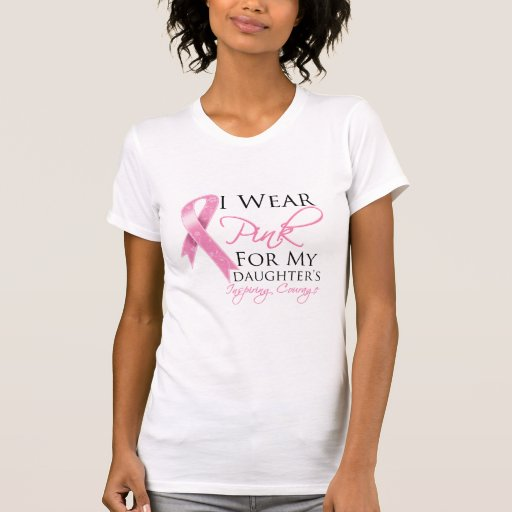 Daughter Inspiring Courage Breast Cancer T Shirt