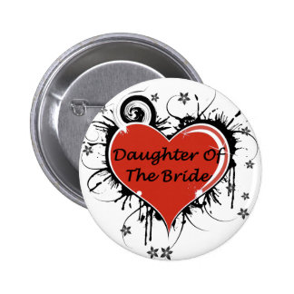 Daughter Of The Bride 6 Cm Round Badge