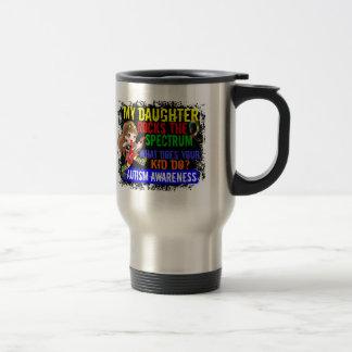 Daughter Rocks The Spectrum Autism Stainless Steel Travel Mug
