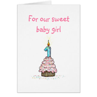 Daughter's First Birthday Card