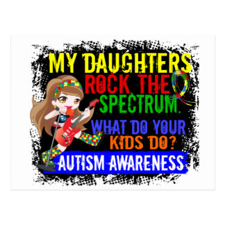 Daughters Rock The Spectrum Autism Postcard