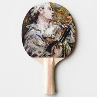 Daumier's Pierrot art ping pong paddle