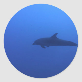 Dauphin Dolphin Customizable Classic Round Sticker