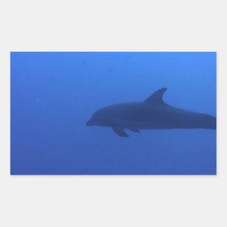 Dauphin Dolphin Customizable Rectangular Sticker