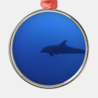 Dauphin Dolphin Customizable Silver-Colored Round Decoration