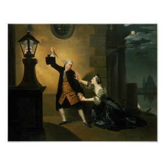 David Garrick  as Jaffier and Susannah Maria Poster
