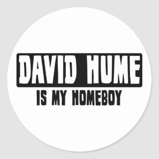 David Hume is my Homeboy Classic Round Sticker