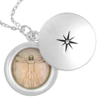 Davinci man producst silver plated necklace