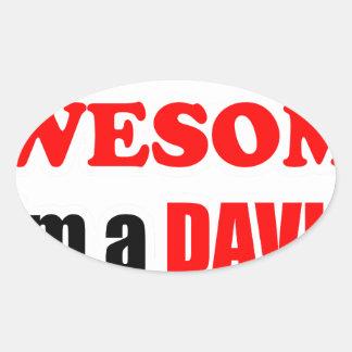 Davis Awesome Family Oval Sticker