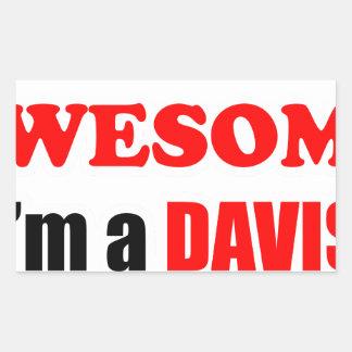 Davis Awesome Family Rectangular Sticker