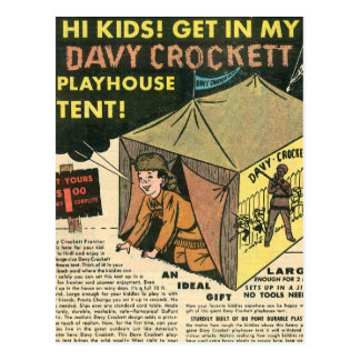 Davy Crockett Playhouse Tent Postcard