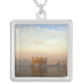 Dawn at the Golden Temple Silver Plated Necklace
