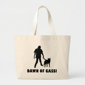 dawn of gassi hund tote bag