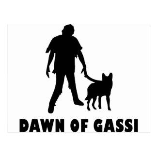 dawn of gassi hund post card