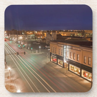 Dawn on Main Street of Bismarck, North Dakota Coaster
