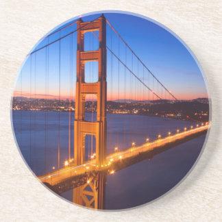 Dawn over San Francisco and Golden Gate Bridge. Coaster