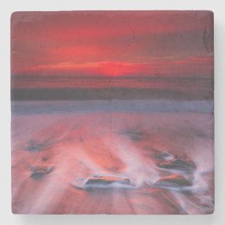 Dawn Over The Stormy Sea Stone Coaster