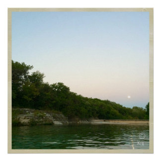 """Dawn Skies"" at Barton Springs Austin Poster"