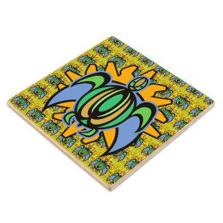 Dawn Turtle Wood Coaster