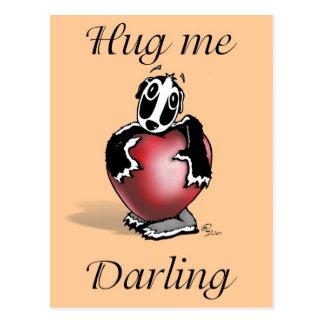 Daxtari lil Badger - Hug me Darling - Postcard