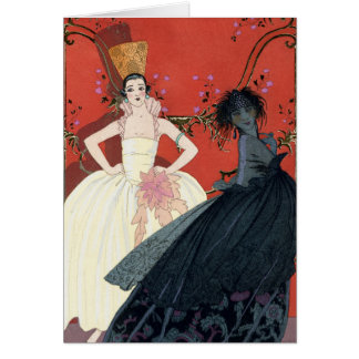 Day and Night in Paris Art Deco Card