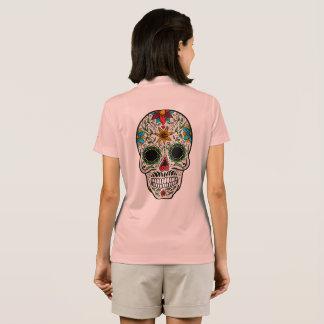 Day Dead Sugar Skull Nike Dri-FIT Pique Polo Shirt