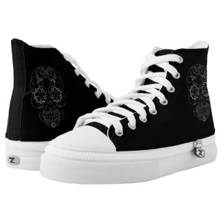 Day Of The Dead Black Sneakers