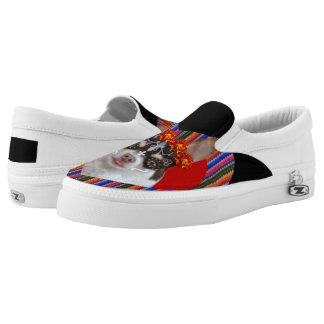 Day of the dead chihuahua dog zips shoes printed shoes