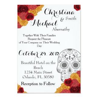 Day of the Dead Dia Los Muertos Wedding Invitation