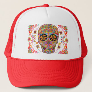 Day of the Dead Hat Sugar Skull Hat