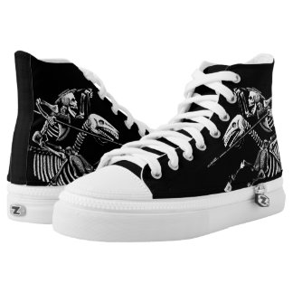 Day of the Dead High Top ALL BLACK Printed Shoes
