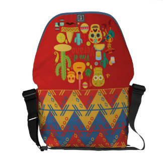 DAY OF THE DEAD MESSENGER BAG, MEXICAN 5th of MAY Messenger Bag