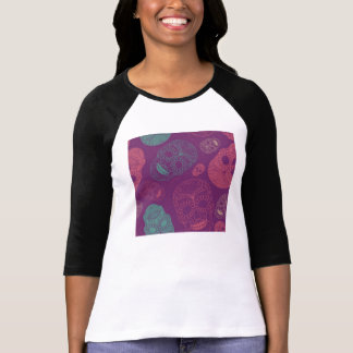 Day of the Dead Mosaic Art Teal, Pink & Purple Tshirt