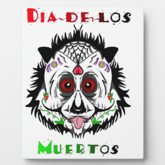 Day of the dead panda plaque