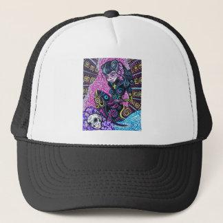 Day of the Dead Retro Mermaid Trucker Hat