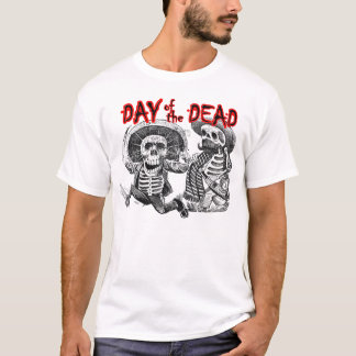 Day of the Dead - Skeletons with machete and booze T-Shirt