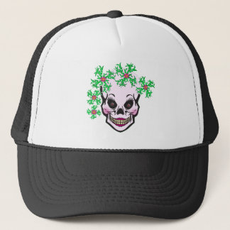 Day of the Dead Skull Trucker Hat