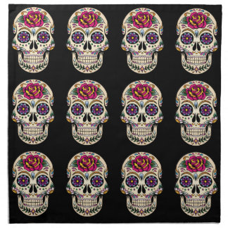 Day of the Dead Skull with Rose Napkin